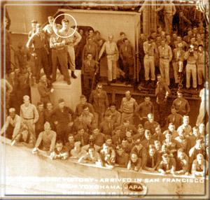 Отправка американцев из порта Йоконама в Сан-Франциско, 18 сентября 1946 года - Стив едет домой.