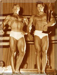 Стив Ривз и Алан Стефан на подиуме.