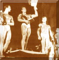 "Победа Стива на конкурсе ""Мистер Мир"". Канны, август 1948 года."