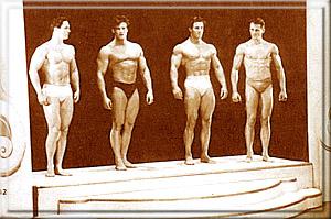 На подиуме - Хуберт Томас (Уэльс), Стив Ривз (США), Рэг Парк (Британия) и Дардэн (Бельгия).